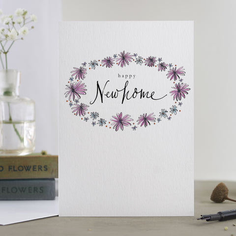 'Happy New Home' Floral Card