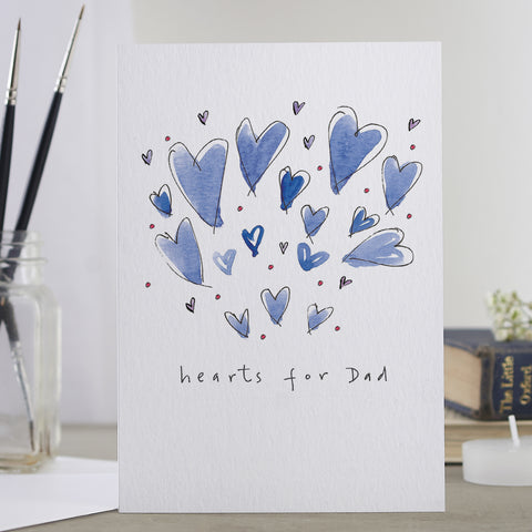 'Hearts For Dad' Card