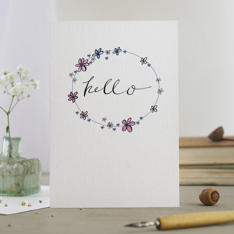 'Hello' Garlands Card