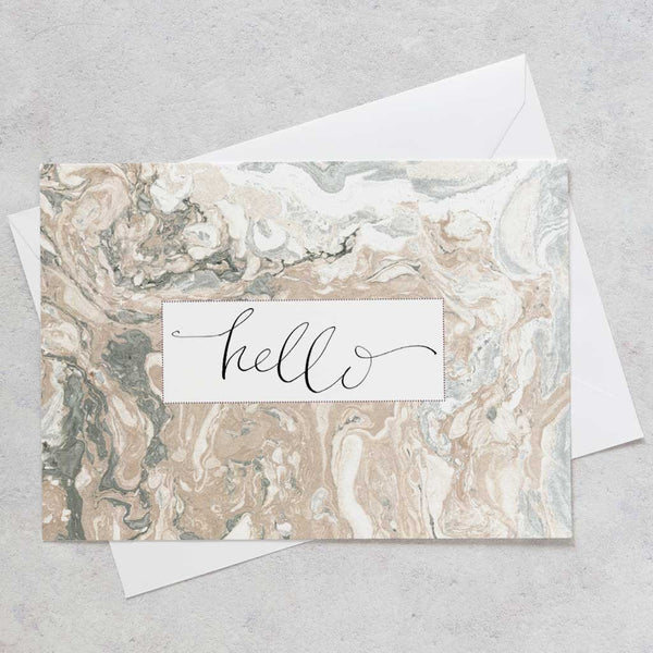 'Staying In Touch' Marbled Postcard Set