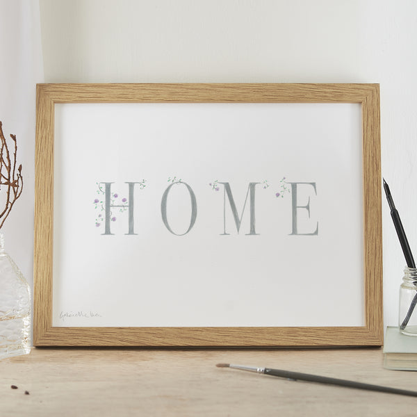 'Home' Decorative Hand Finished Artwork