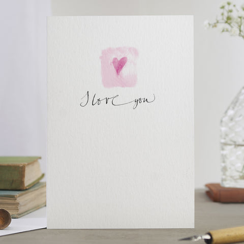 'I Love You' Heart Card