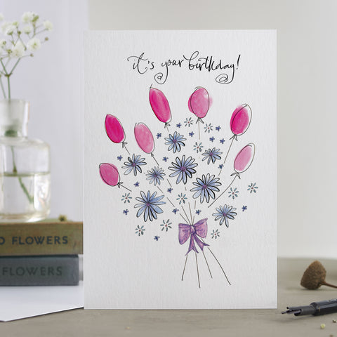 'It's Your Birthday!' Bouquet Card