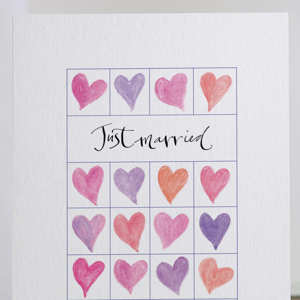 'Just Married' Hand Drawn Card