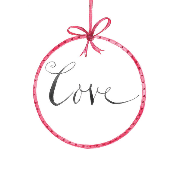 'Love' Christmas Card