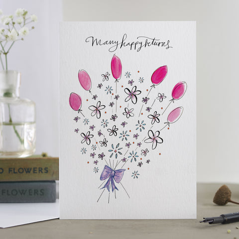 'Many Happy Returns Bouquet' Card