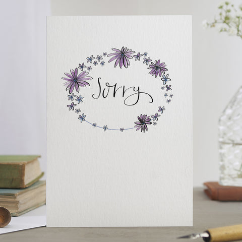 'Sorry' Garland Card