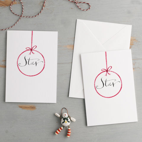 'Star' Christmas Card Pack
