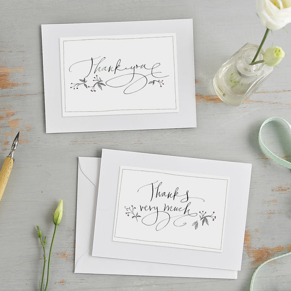 'Thank You' Card (mauve spots)