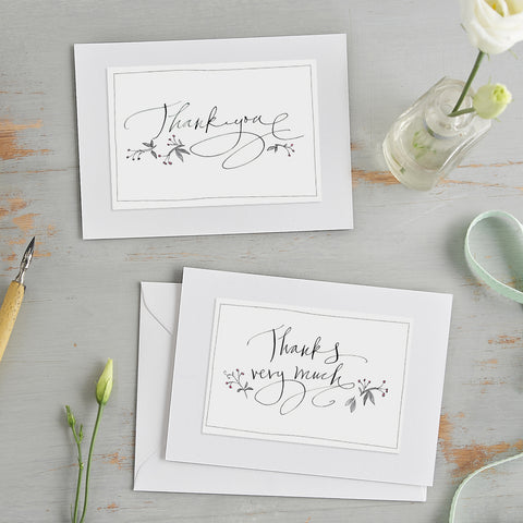 'Thank You' Hand Finished Notecards Set