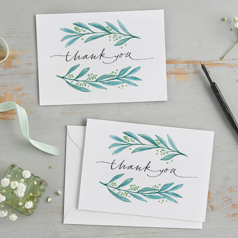 'Thank You' Border Card Pack