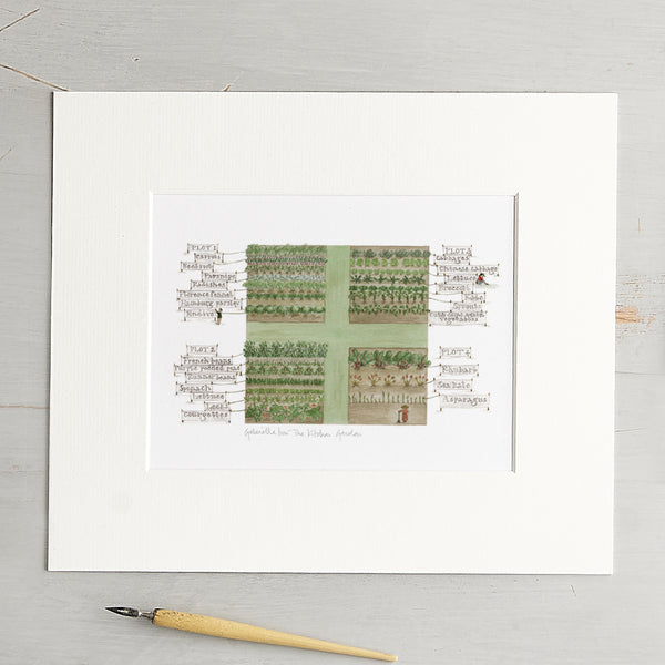 'The Kitchen Garden' Mounted Print