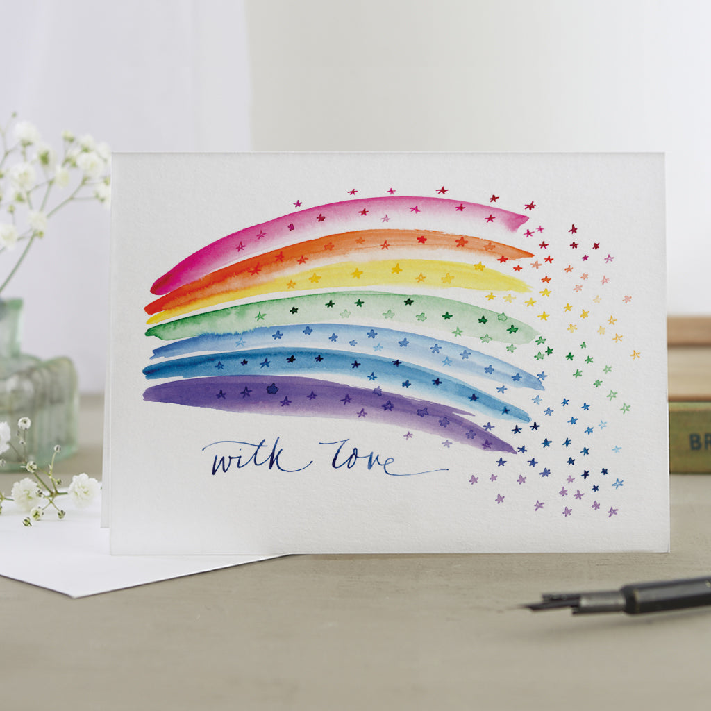 'With Love' Rainbow Card