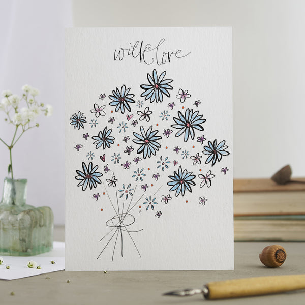 'With Love' Bouquet Card