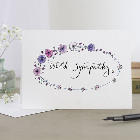 'With Sympathy' Garland Card