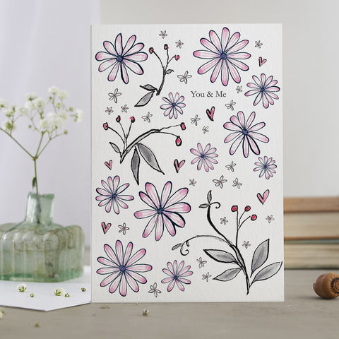 'You & Me' Flower Card