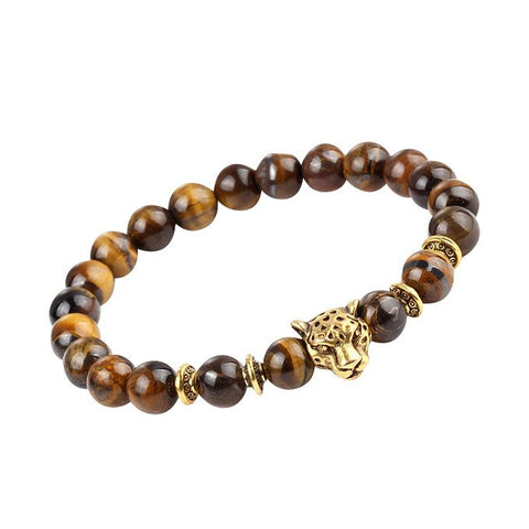 Cheetah Head Bracelet