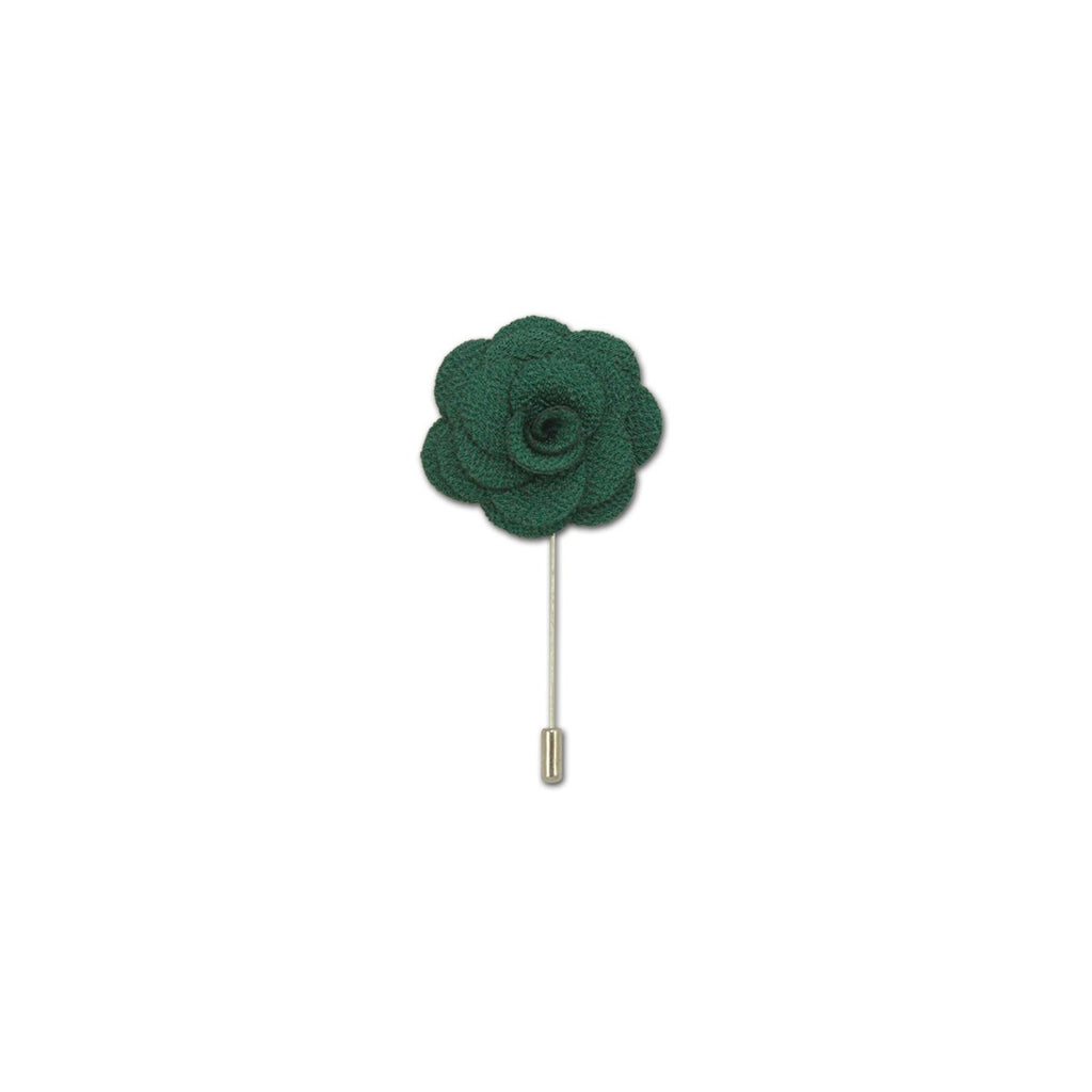 Green Rose Lapel Pin