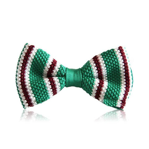 Striped Knit Bowtie