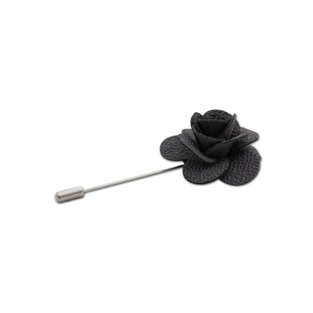 Grey Rose Lapel Pin