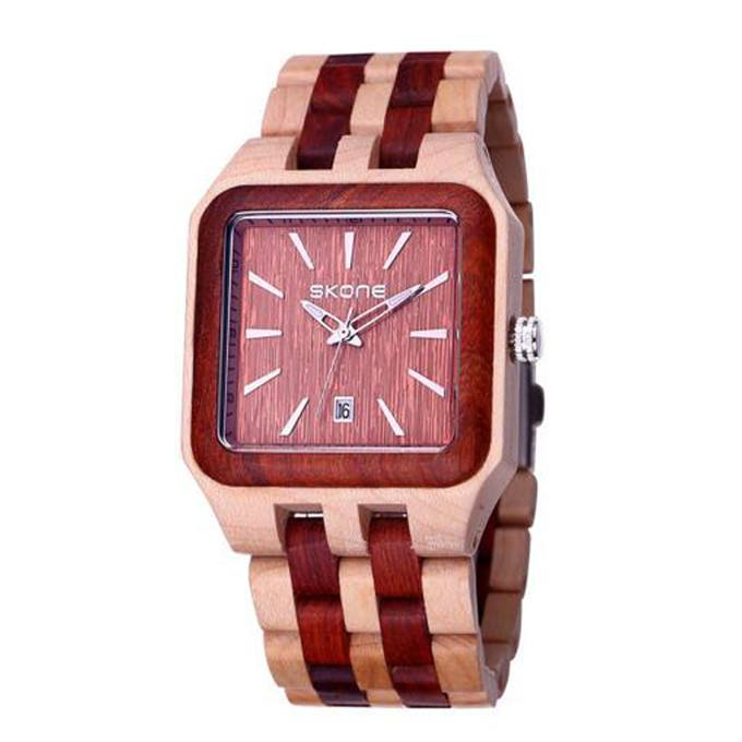 Light Skone Wood Watch