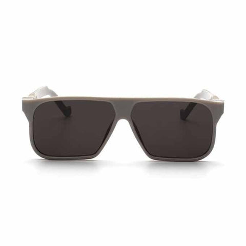 Oval Retro Sunglasses - Black