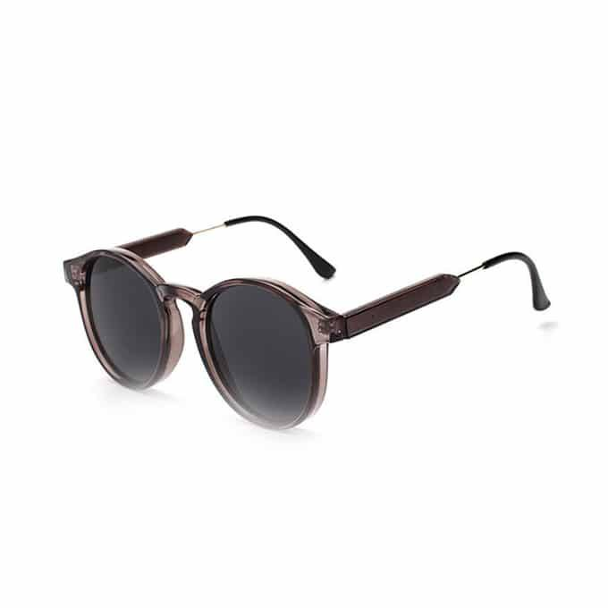 Oval Retro Sunglasses - Grey