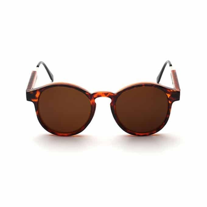 Oval Retro Sunglasses - Tortoise