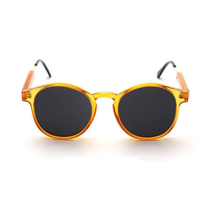 Oval Retro Sunglasses - Yellow