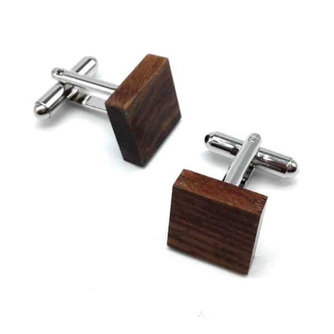 Square Wood Cufflinks