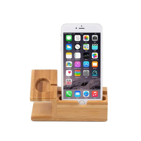 Wood iPhone & Watch Dock