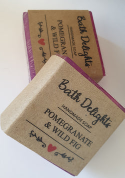 Handmade Soap - Pomegranate and Wild Fig