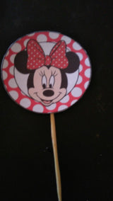 40Pcs Minnie Mouse Cupcake toppers and wrappers