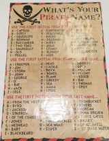 Pirate Name Board