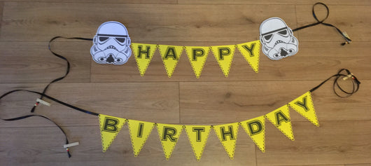 Starwars Happy Birthday Bunting