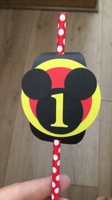 20Pcs Mickey Mouse Straws