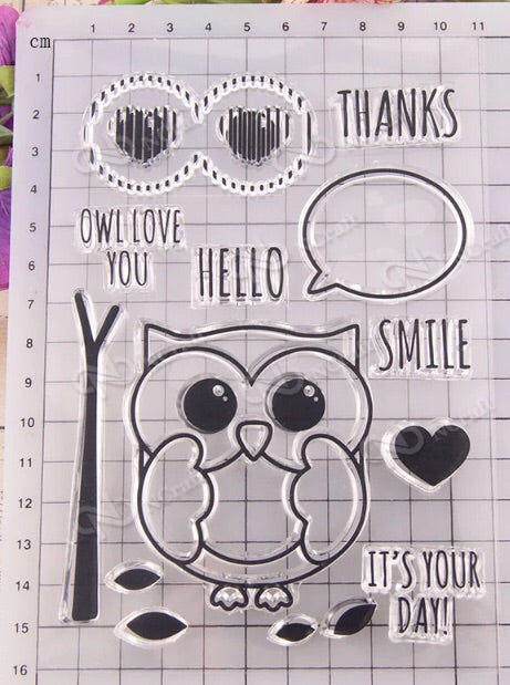 Cute Owl Stamp Set