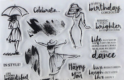 Dancing Lady Stamp Set