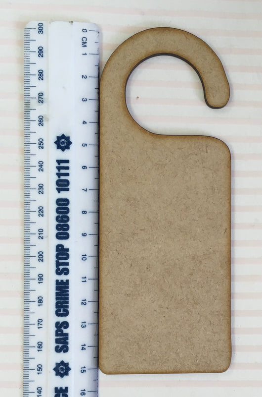 15cm long undecorated Wooden door hanger