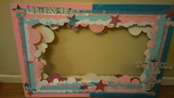 Gender Reveal Photo Prop Frame