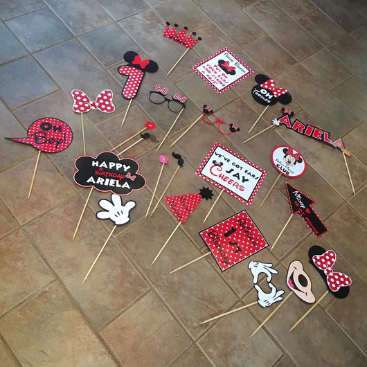 20Pcs Minnie Mouse Photo Props