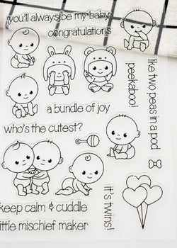 Adorable baby stamp set