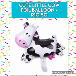 Cute Little Cow Foil Balloon