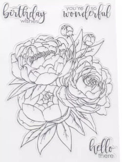 Flower Stamp and Cutting Die Set