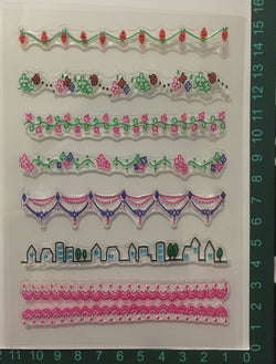 7pcs Boarder Stamp set