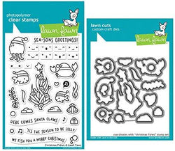 Christmas Fishes Stamp and Cutting Die Set