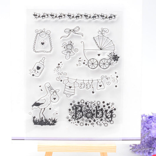 Welcome Baby Cling Stamps