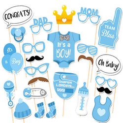 25pcs Baby Boy Baby Shower Photo Booth Props