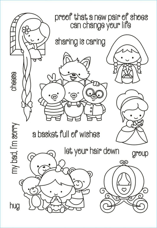 Fairytale and Sentiment Stamp Set