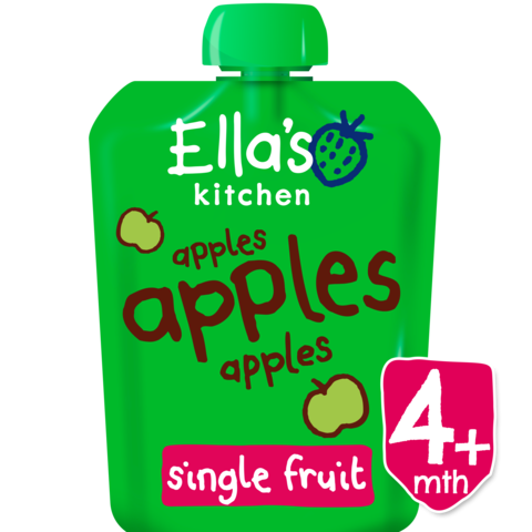 Ella's Kitchen Apples, Apples, Apples, 70g (From 4 Months)